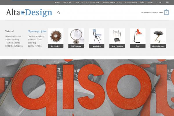 Alta Design webshop